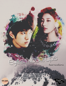 eyes, nose, lips poster